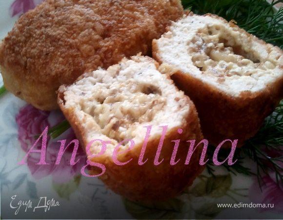 Куриные зразы с сыром и грецкими орехами