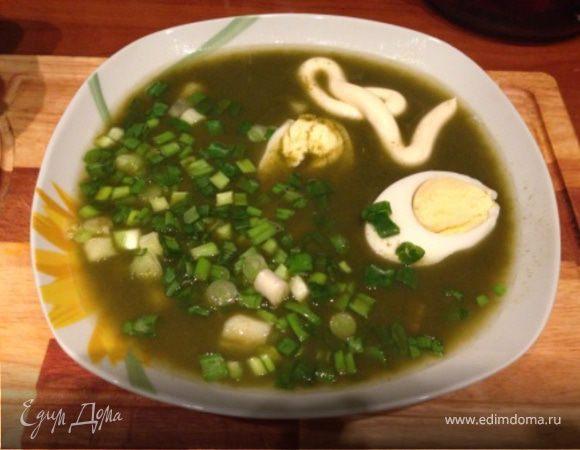 Суп из шпината со вкусом щавеля