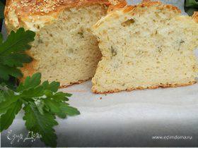Домашний хлеб с петрушкой без замеса