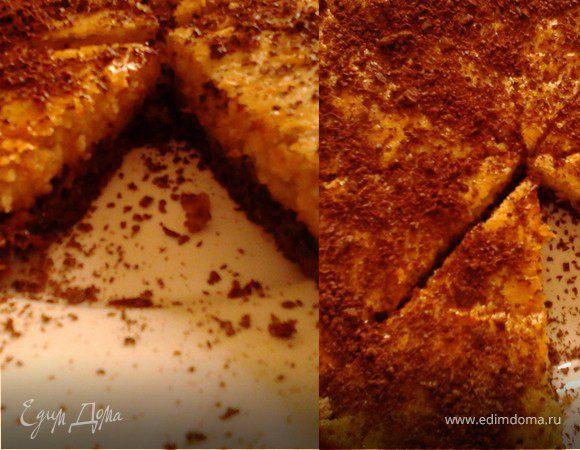 Пирог с шоколадом и черносливом