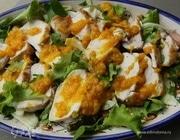 Салат с курицей, фенхелем и кинзой