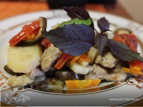 Сотэ с мясом и овощами