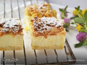 Сырник с персиками