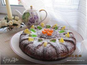 Пирог мускатно-лимонный с финиками на сыворотке