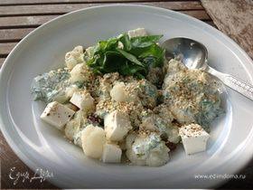 Салат из цветной капусты с козьим сыром