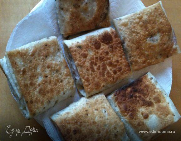 Хрустящие конвертики из армянского лаваша на завтрак