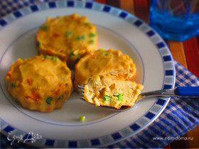 Рыбные котлетки с морковью и стручковой фасолью в духовке