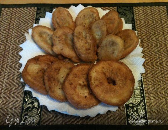 Субботний десерт на завтрак - фрукты в кляре