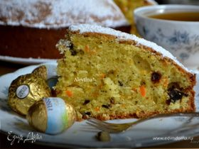 Морковный кекс со сливой