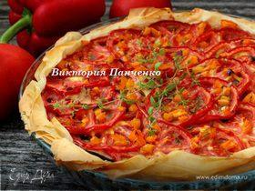 """Быстрый томатный пирог (""""новый урожай"""")"""