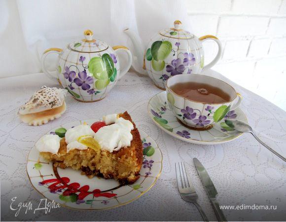 Лимонный пирог с кокосом и безе