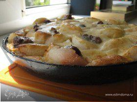 Пирог из яблок со сметаной