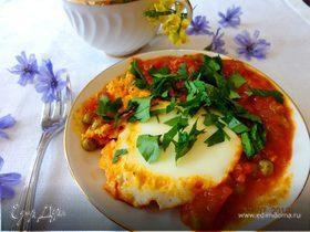 """""""Шакшука"""" - яичница с помидорами"""