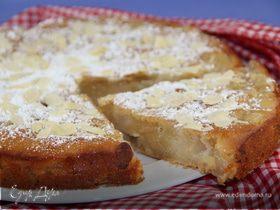 Ароматный пирог с грушами, медом и миндалем (постный)