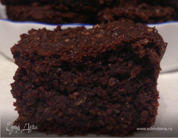Простой шоколадно-овсяный пирог