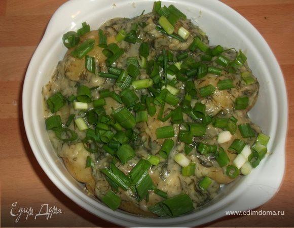 Картошка под укропным соусом
