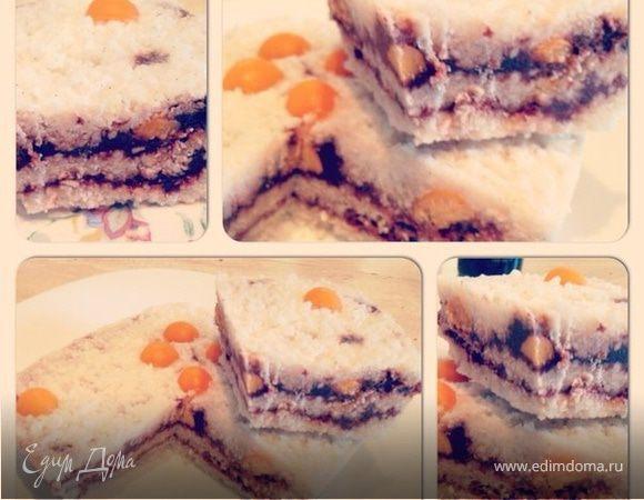 Кокосовый торт-мороженое