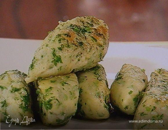 Ньокки из рикотты со свежей зеленью