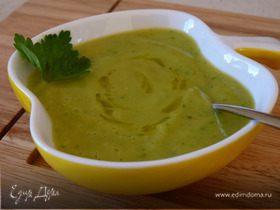 Пикантный крем-суп из кабачка