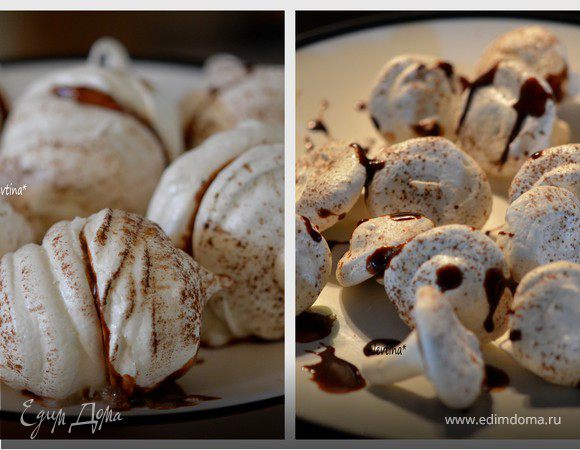 Украшения из безе или безе с шоколадом