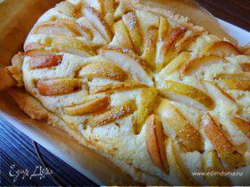 Творожный пирог с грушами «Теплая осень»
