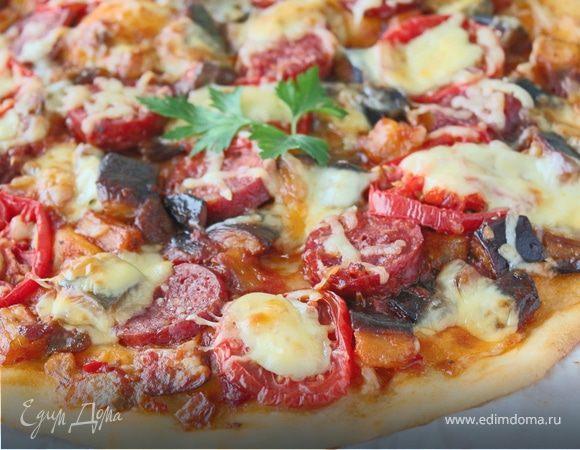 Пицца с баклажанами и сыром Джюгас