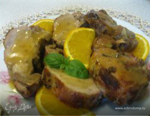 Свинина с апельсинами по-гречески