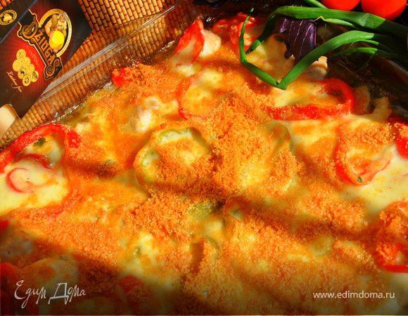 Запеканка из курицы и сладкого перца с сыром Джюгас