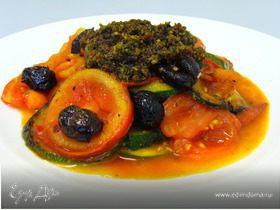 Овощи по-средиземноморски с томатным песто