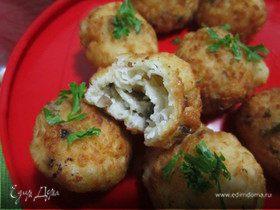 Сырные шарики с грибами и сыром Джюгас