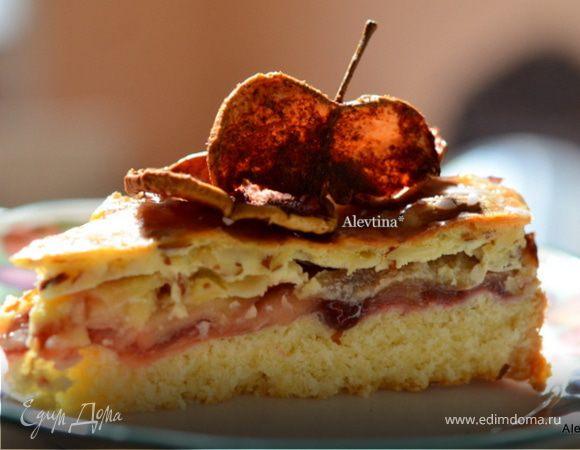 Яблочно-миндальный швейцарский кекс