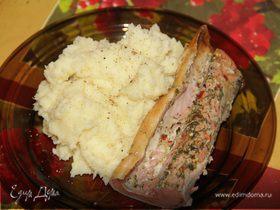 Картофельное пюре с пастернаком и сметаной