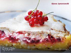 Летний пирог со смородиной на творожном тесте