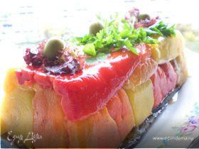 Мясной террин с овощами и кавказскими специями