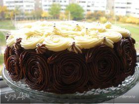 Шоколадно-муссовый торт с вишней от Мишеля Ру и МК по украшению