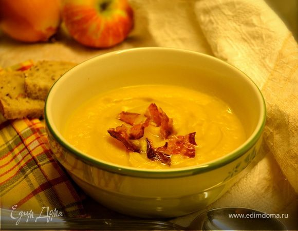 Тыквенный суп с яблоками