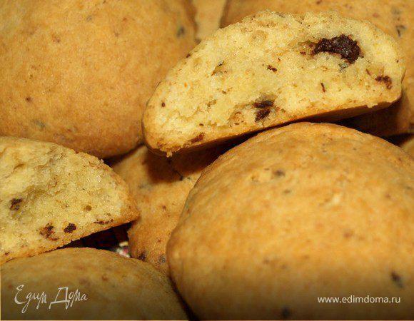 Имбирно-творожное печенье с шоколадной крошкой