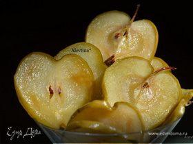 Яблочные карамелизированные чипсы
