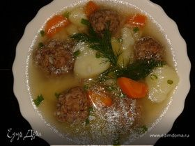 Рисовый суп с фрикадельками