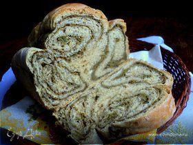 Хлеб с цельнозерновой мукой и шпинатом