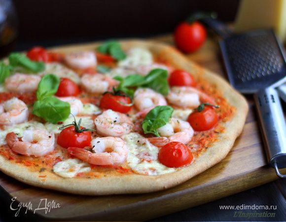 Нежнейшая пицца с морепродуктами