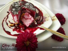 Черничный десерт на основе крем-фреша