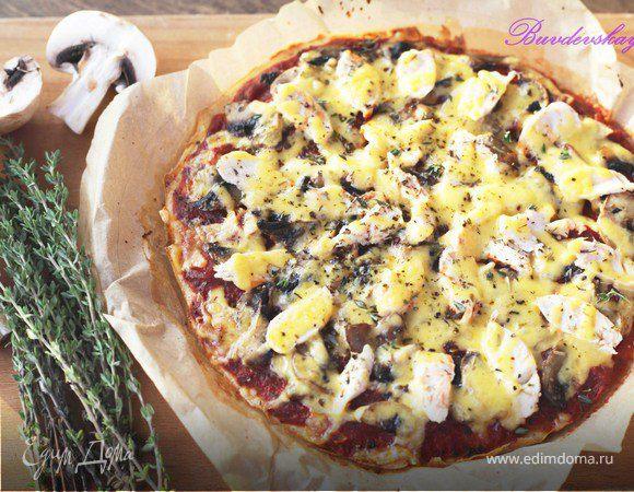 Пицца с курицей и грибами (Light)