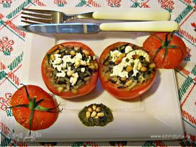 """Фаршированные помидоры """"Вкусная парочка"""""""