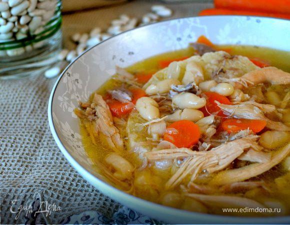 Куриный суп с белой фасолью