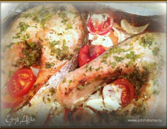 """""""Быстрая"""" пряная семга на овощной подушке, или ужин для ленивых"""
