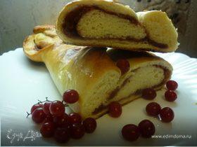 Пирог с красной черемухой