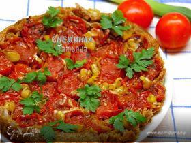 Пирог-перевертыш с помидорами