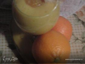смузи с бананом и апельсином