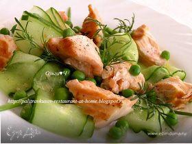 Салат из лосося с лаймом и имбирем